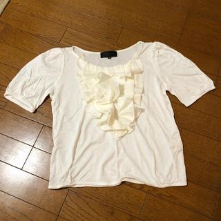 アンタイトル(UNTITLED)のuntitled 2号 フリル付きTシャツ オフホワイト(Tシャツ/カットソー(半袖/袖なし))
