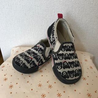 ダブルビー(DOUBLE.B)のミキハウス ダブルB 靴 ☆ 16cm ビー君柄いっぱい スニーカー スリッポン(スニーカー)