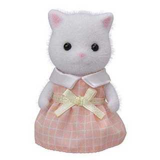 シルバニアファミリー 人形 ペルシャネコの女の子(ホワイト) ニ-105(その他)