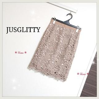 ジャスグリッティー(JUSGLITTY)のJUSGLITTY*レースタイトスカート(ひざ丈スカート)