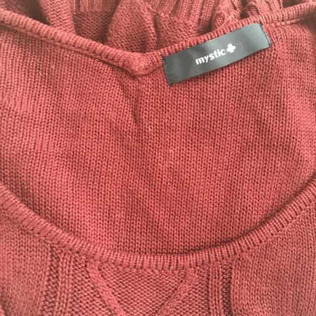 mystic(ミスティック)のmystic 赤ニット レディースのトップス(ニット/セーター)の商品写真