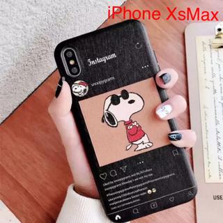 スヌーピー iPhoneケース Instagram 黒(iPhoneケース)