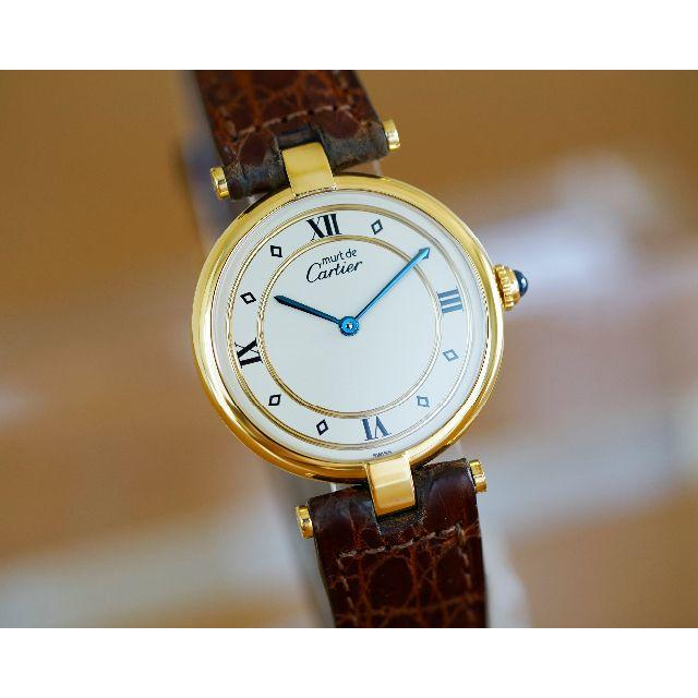 Cartier(カルティエ)の美品 カルティエ マスト ヴァンドーム ゴールドリング LM Cartier メンズの時計(腕時計(アナログ))の商品写真