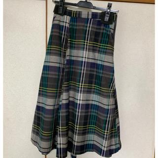 プラステ(PLST)のプラステ マドラスチェック スカート(ひざ丈スカート)