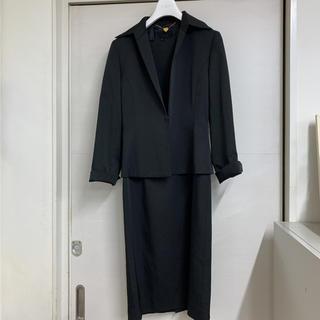 エフデ(ef-de)のエフデ レディース ブラックフォーマルスーツ ワンピースとジャケット(スーツ)