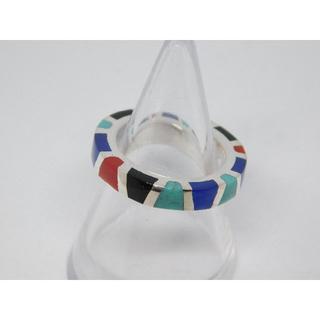 17号 SAINTS 新品 セインツ マルチカラー レジン リング シルバー(リング(指輪))