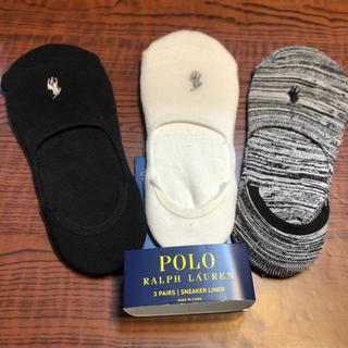 POLO RALPH LAUREN - 新品 ポロ ラルフローレン ブランド 靴下 ソックス 3足ロゴ上質 フットカバー