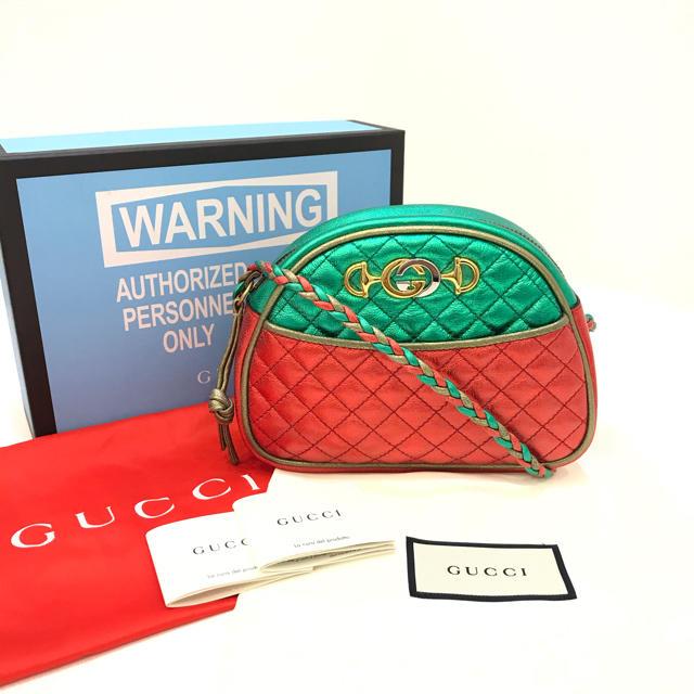 Gucci - 5278 GUCCI グッチ ラミネートレザー キルティングショルダーの通販
