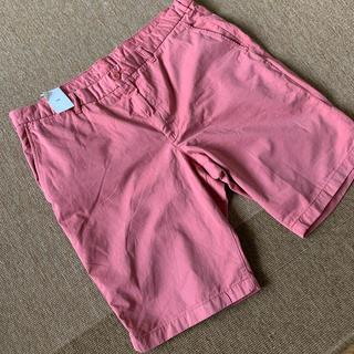 ユニクロ(UNIQLO)のユニクロ  半ズボン サーモンピンク新品(ショートパンツ)