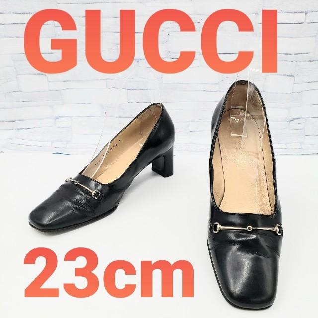 Gucci - 【GUCCI】 グッチ パンプス ブラック 23cmの通販