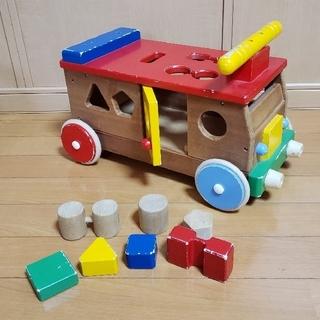 ミキハウス(mikihouse)のミキハウス木製おもちゃパズルバス(積み木/ブロック)