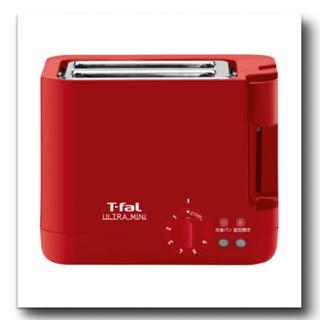T-fal - ティファール T-fal ポップアップトースター ウルトラミニ ソリッドレッド