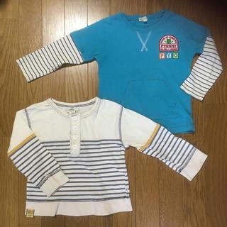 サンカンシオン(3can4on)の【格安中古】サイズ100 長袖Tシャツ2点セット(Tシャツ/カットソー)