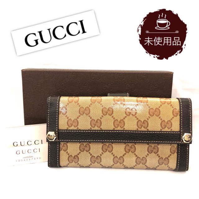Gucci - 【未使用品】グッチ GUCCI GGクリスタル ロングウォレット/長財布の通販
