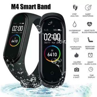 M4 スマートバンド 黒色 心拍計 活動量計(腕時計(デジタル))