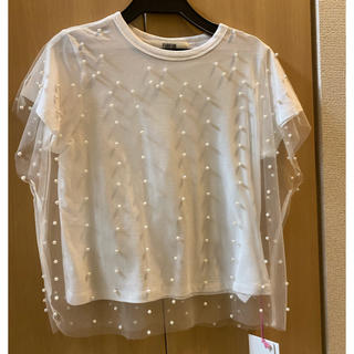 ファーファー(fur fur)のタグ付き新品 FURFUR パールTシャツ ファーファー(Tシャツ(半袖/袖なし))