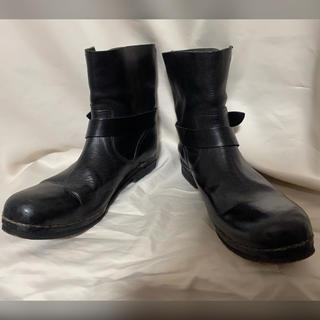 イサムカタヤマバックラッシュ(ISAMUKATAYAMA BACKLASH)のISAMU KATAYAMA BACKLASH レザーブーツ 27.5 ブラック(ブーツ)