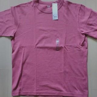 ユニクロ(UNIQLO)のユニクロU クルーネックT ピンク XL(Tシャツ/カットソー(半袖/袖なし))