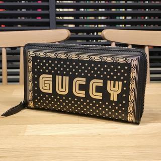 Gucci - 新品未使用 グッチ ラウンドファスナー 長財布 GUCCY プリント