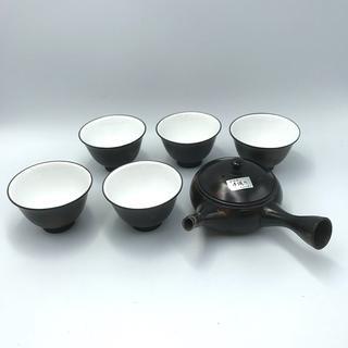 常滑焼 湯呑 5客 急須 セット 手作り 玉光陶園 陶器(食器)