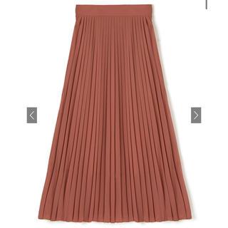 グレイル(GRL)のGRL グレイル 新品未使用 プリーツスカート オレンジ ロングスカート(ロングスカート)