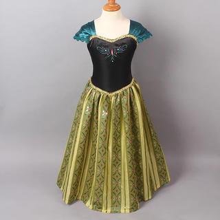 【最安値】アナと雪の女王 アナ風 キッズ 女の子 プリンセス ドレス 子供服