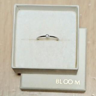 ブルーム(BLOOM)のBLOOM  WG k10  一粒ダイヤリング(リング(指輪))