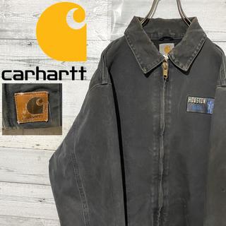 carhartt - 【激レア】カーハート☆刺繍ロゴ 企業ロゴ 革ロゴタグ ダックアクティブジャケット