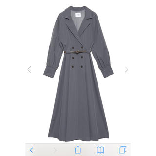 Ameri VINTAGE - ameri vintage LONG COAT LIKE BELT DRESS