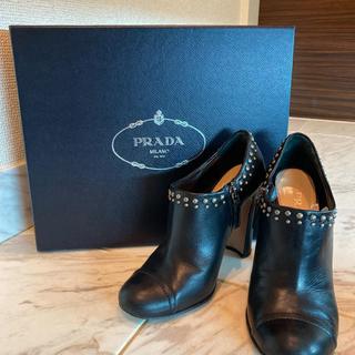 PRADA - プラダ 35 1/2 ショートブーツ
