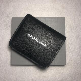 Balenciaga - BALENCIAGA バレンシアガ  折り財布 ブラック 2020ss