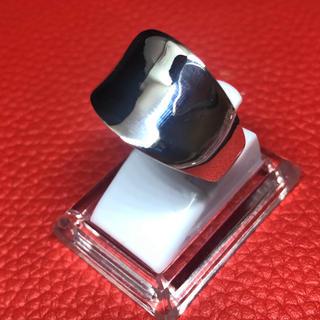 逆甲丸 反り返った指輪 ワイド 幅広 シルバー925 リング  銀 指輪(リング(指輪))