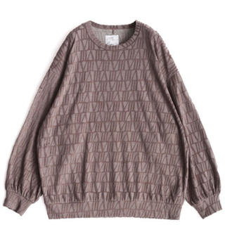 シャリーフ(SHAREEF)のshareef  VELOUR LOGO JQ L/S PULL OVER(Tシャツ/カットソー(七分/長袖))