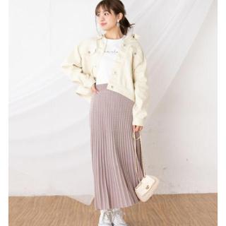 ナイスクラップ(NICE CLAUP)のニットプリーツスカート(ロングスカート)