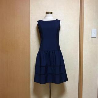 エムプルミエ(M-premier)のM-premier BLACK❁︎裾レースワンピース(ひざ丈ワンピース)