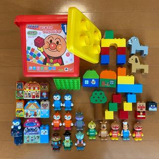 アンパンマン(アンパンマン)のアンパンマンはじめてのブロックバケツ 他(積み木/ブロック)