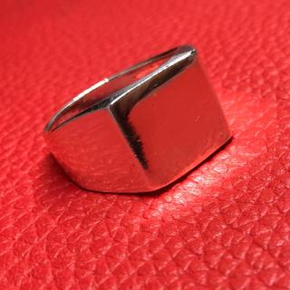 印台シルバー925リング銀スターリングSILVER925 シグネット指輪スクエア(リング(指輪))