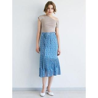 ラグナムーン(LagunaMoon)の新品 ラグナムーン フラワープリントプリーツスカート(ロングスカート)