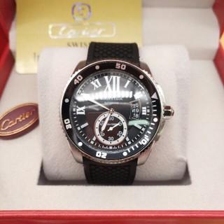 カルティエ(Cartier)のカルティエ CARTIER カリブル ドゥ カルティエ ダイバー カーボン(腕時計(アナログ))