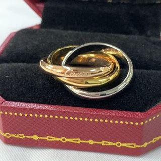 【Cartier/カルティエ】トリニティ 3連リング 12号(リング(指輪))