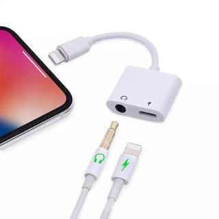 iPhone 2in1 イヤホン変換アダプタ
