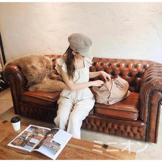 ルームサンマルロクコンテンポラリー(room306 CONTEMPORARY)のroom306 Shoulder Frill Design Rompers (オールインワン)