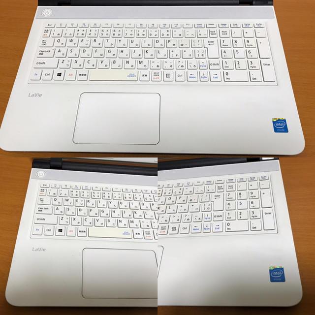 NEC(エヌイーシー)のNEC エヌイーシー ノートPC/Windows10/SSD240GB/オフィス スマホ/家電/カメラのPC/タブレット(ノートPC)の商品写真