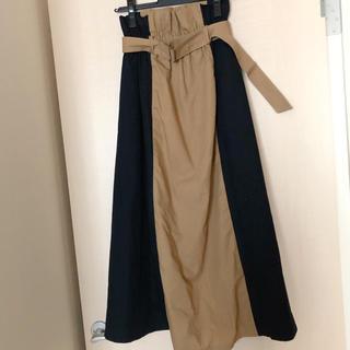 Mystrada - フリーサイズ着やせ効果配色スカート