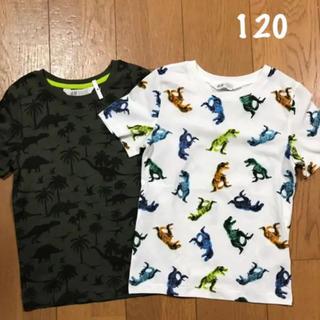 H&M - ✨120  恐竜プリントTシャツ2枚セット H&M