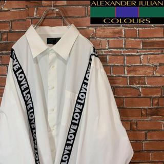 アートヴィンテージ(ART VINTAGE)の《ビッグシルエット》アレキサンダージュリアン ラインテープロゴ シャツ 4XL(シャツ)