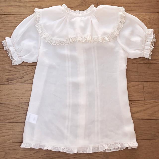 axes femme(アクシーズファム)の夏♫アイボリーブローチ付きセーラーフリルブラウス レディースのトップス(シャツ/ブラウス(半袖/袖なし))の商品写真