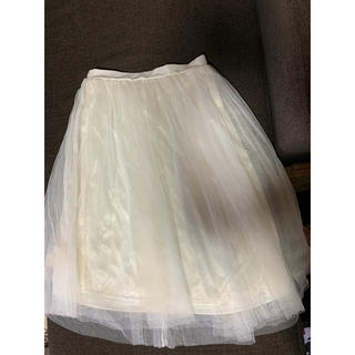 スピンズ(SPINNS)のチュールスカート(ひざ丈スカート)