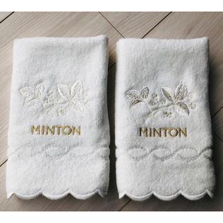 ミントン(MINTON)の☆新品未使用☆MINTON ミントン♡タオルハンカチ ハンドタオル 2枚セット(タオル/バス用品)