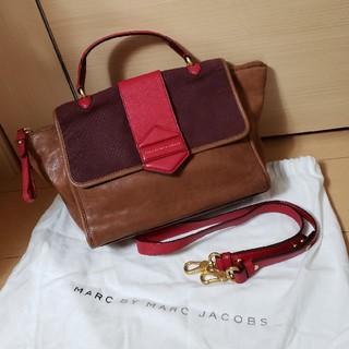 マークバイマークジェイコブス(MARC BY MARC JACOBS)の美品 MARC BY MARC JACOBS レザー2wayハンドバッグ(ショルダーバッグ)